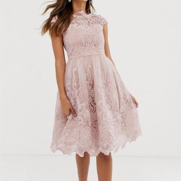 Chi Chi London Lace Midi Dress